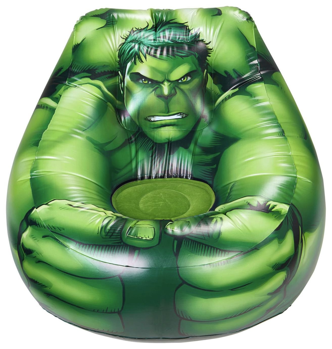 Image of Avengers - Hulk Flocked Chill Chair