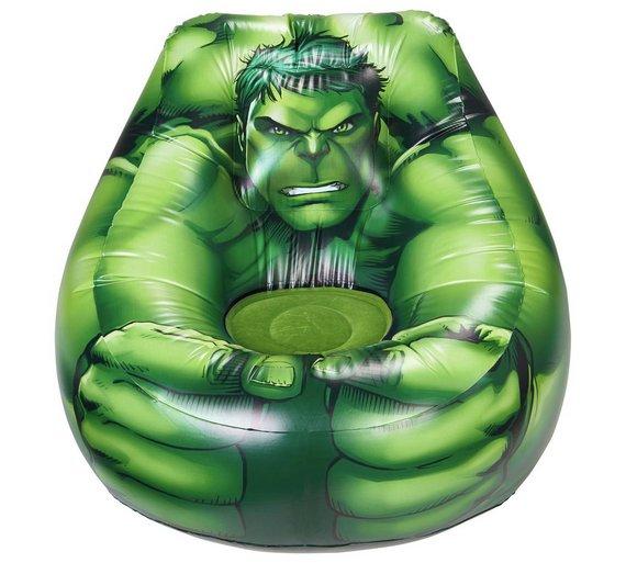 Buy Marvel Avengers Hulk Flocked Chill Chair Inflatable Toys Argos