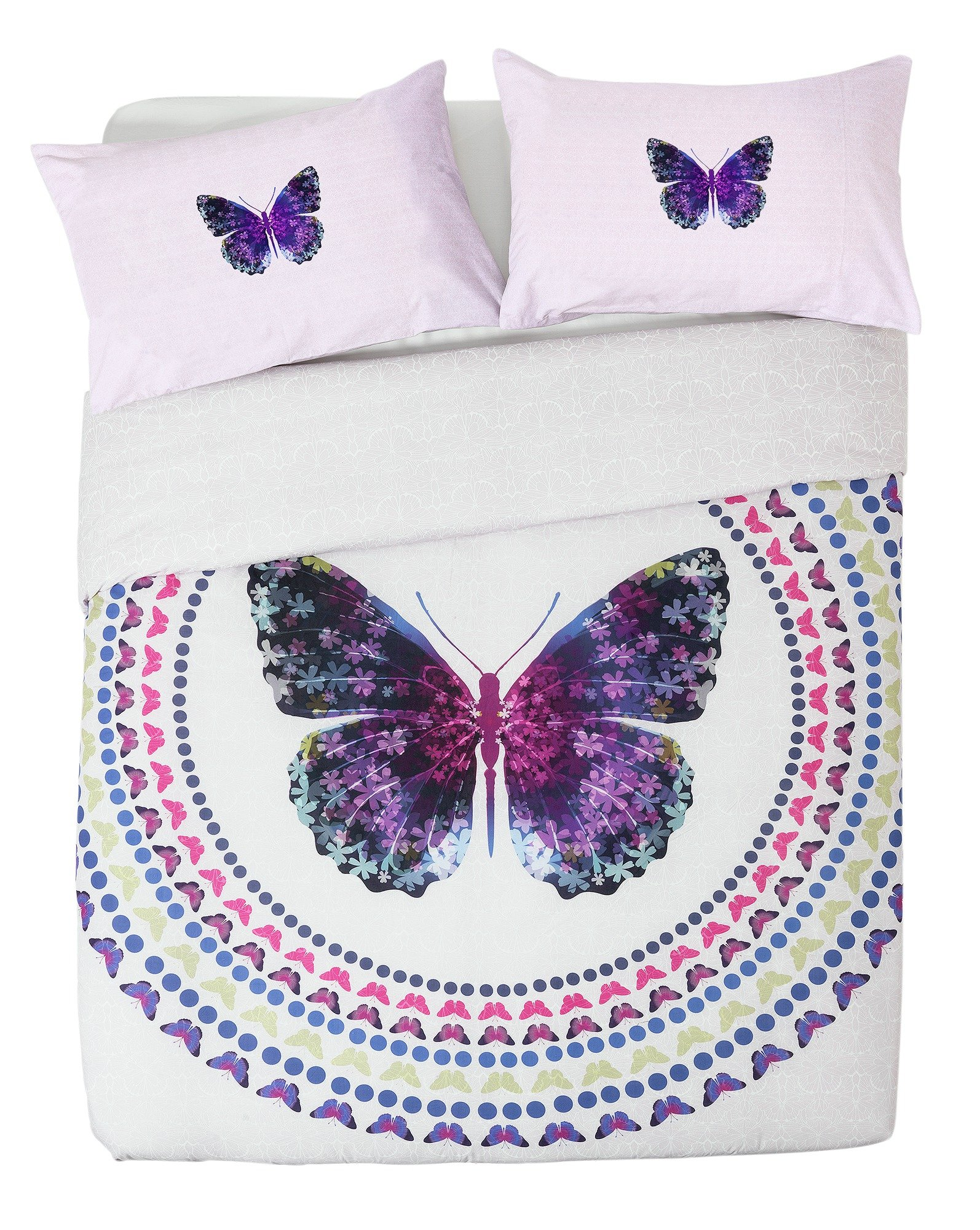 collection digital butterfly print bedding set  double