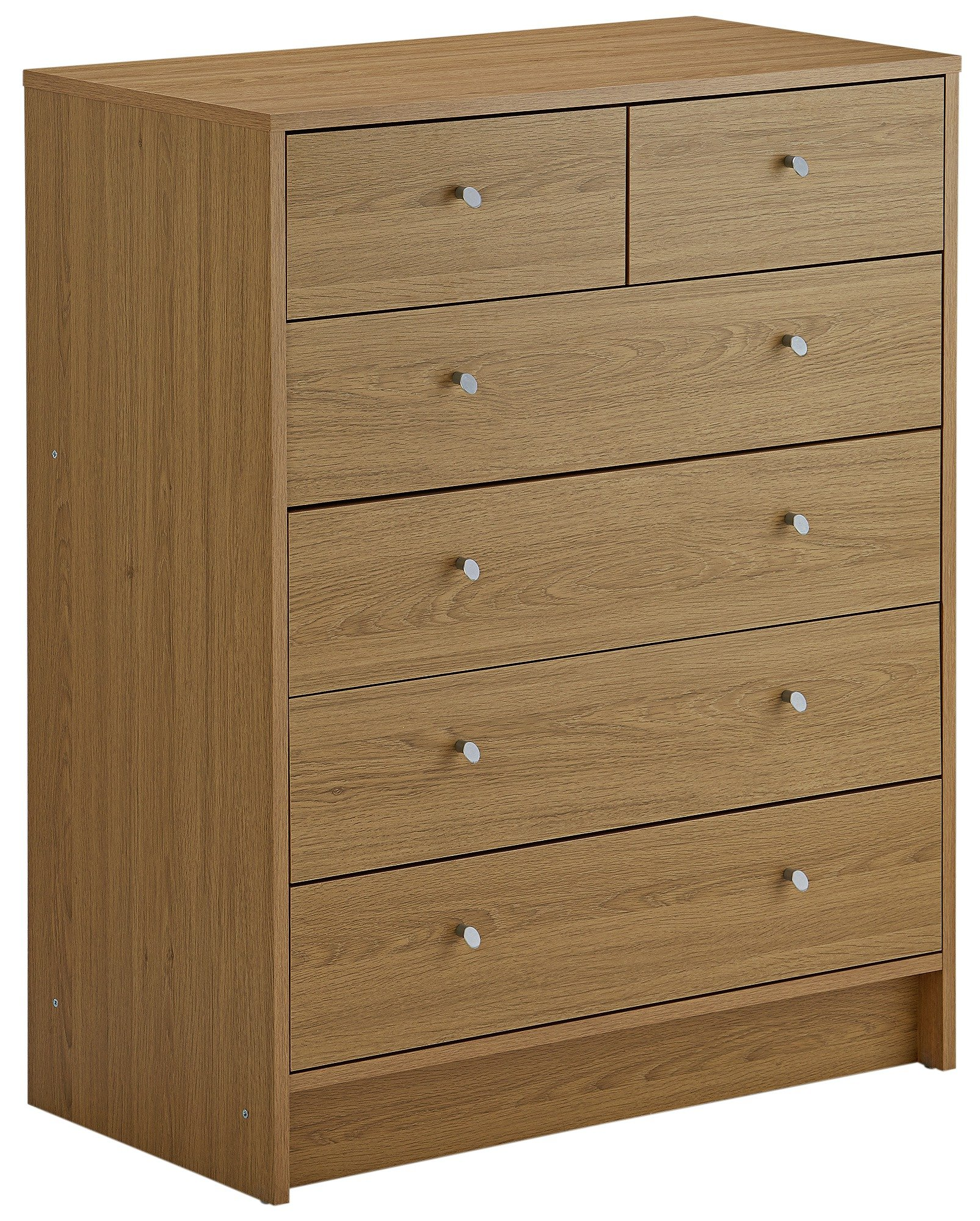 home kids new malibu 4 + 2 chest of drawers  oak