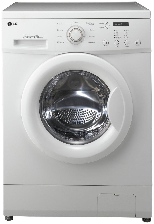 lg direct drive washing machine. lg f12c3qd 7kg 1200 spin washing machine - white lg direct drive d