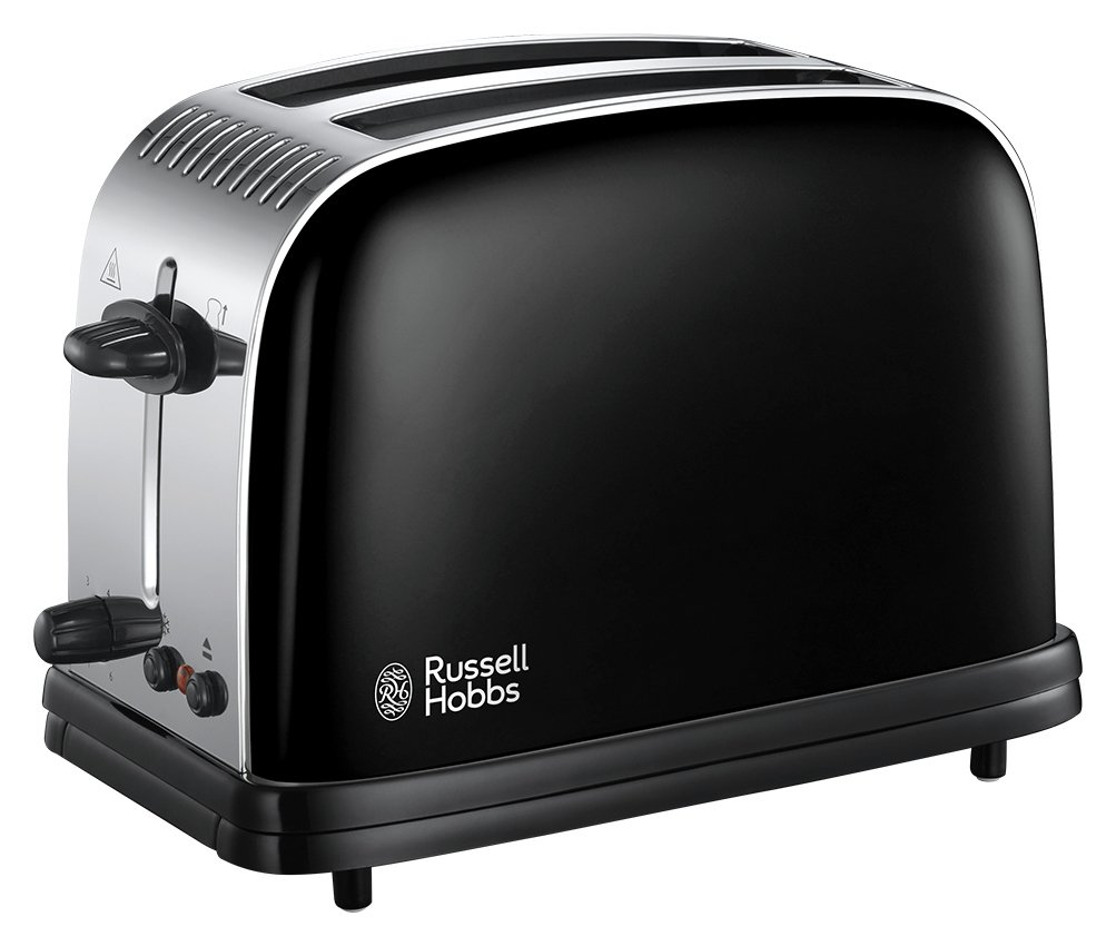 Russell Hobbs 23331 Colours Plus 2 Slice Toaster - Black