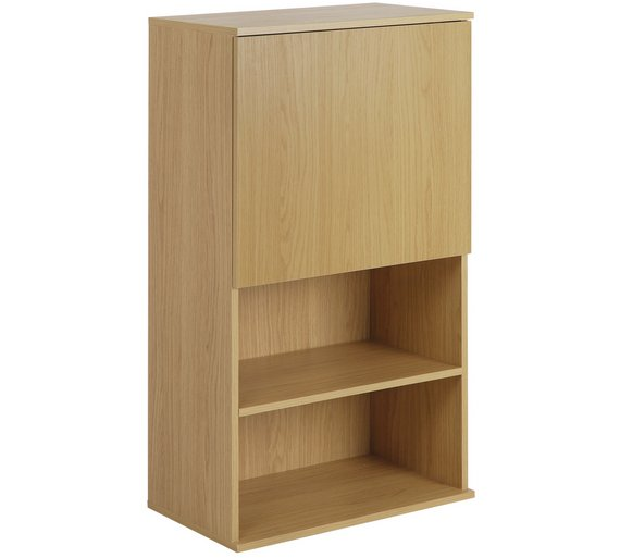 Buy Hygena Modular Single Door Oak Wall Cabinet Display Cabinets