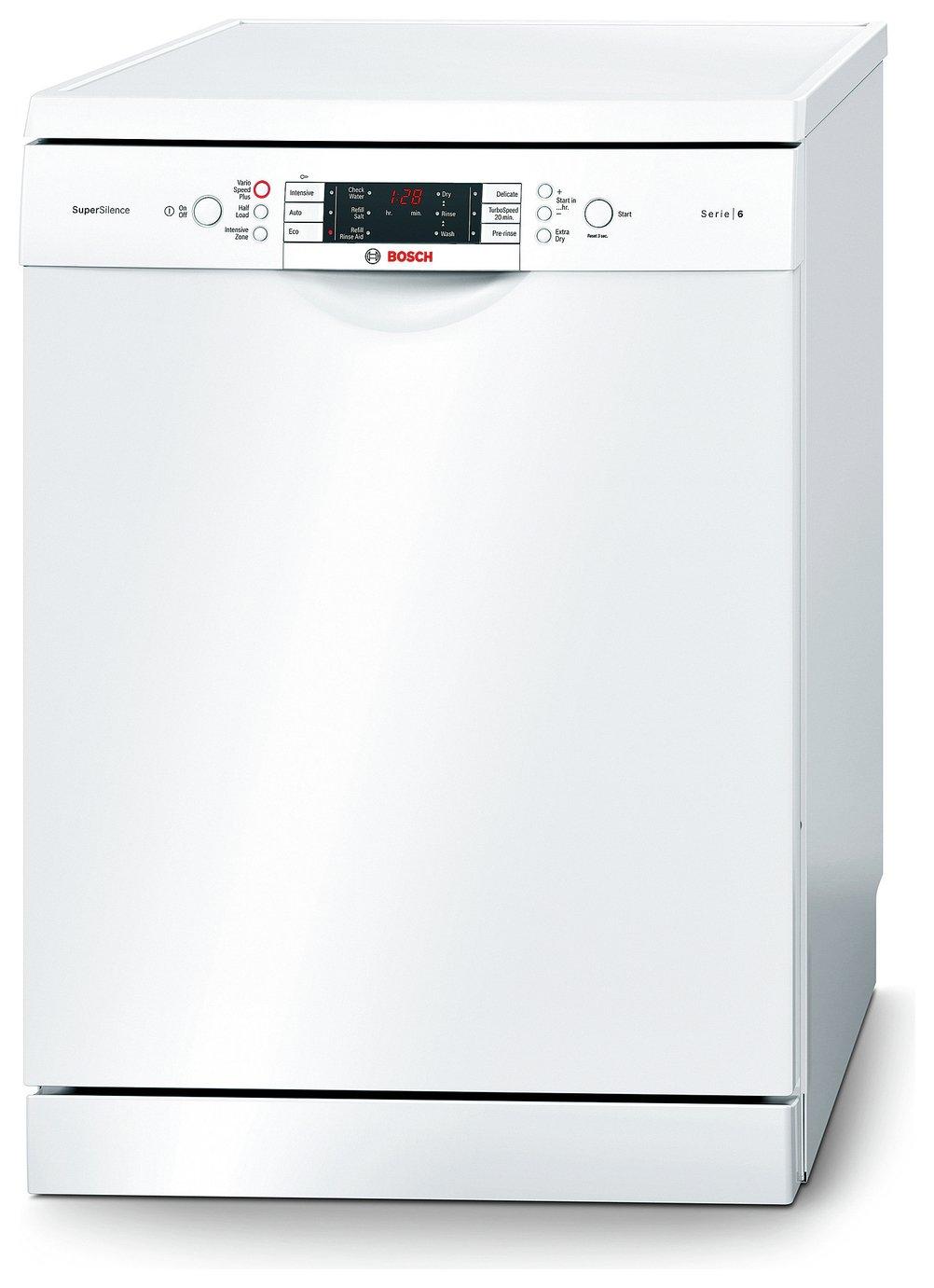 Image of Bosch - SMS69M22GB - Full Size Dishwasher - White