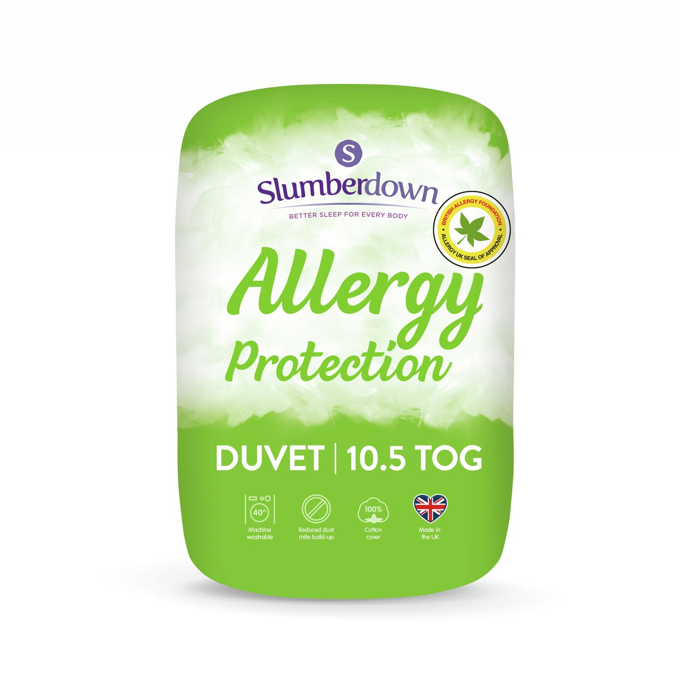 Slumbedown Allergy Protection 10.5 Tog Duvet - Single