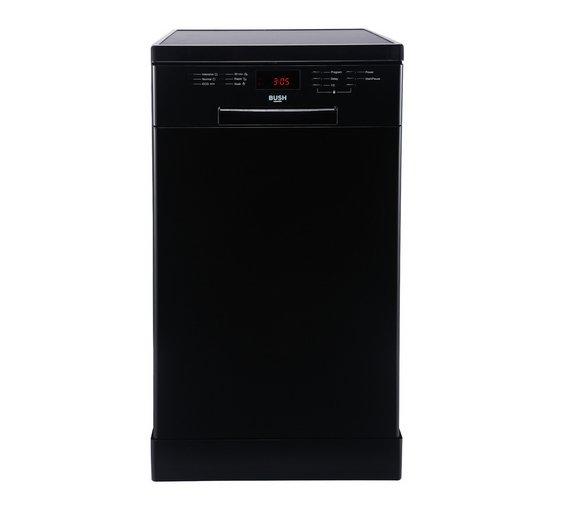 Buy Bush DWSL145W Slimline Dishwasher - Black | Dishwashers | Argos
