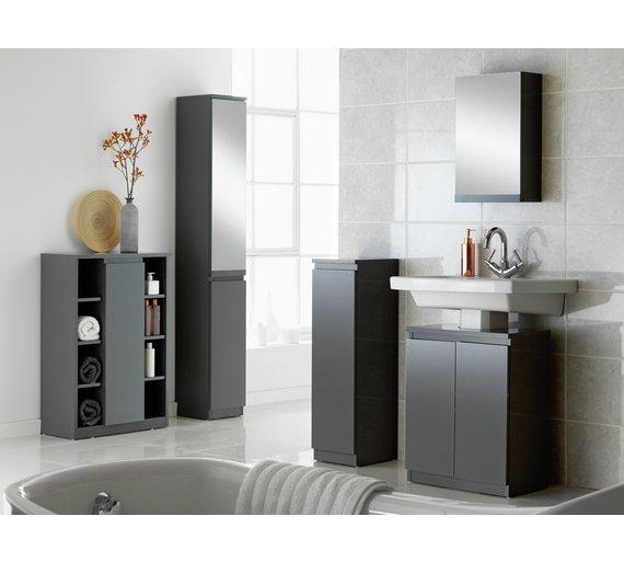 Buy Hygena Gloss Mirrored Tall Boy Storage Unit