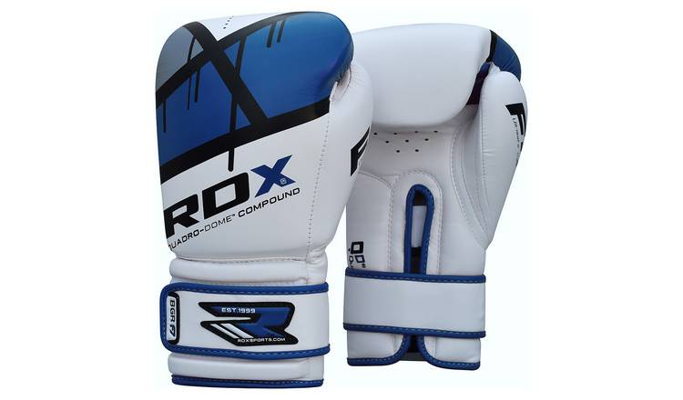 RDX Synthetic Leather 16oz Boxing Gloves - Blue