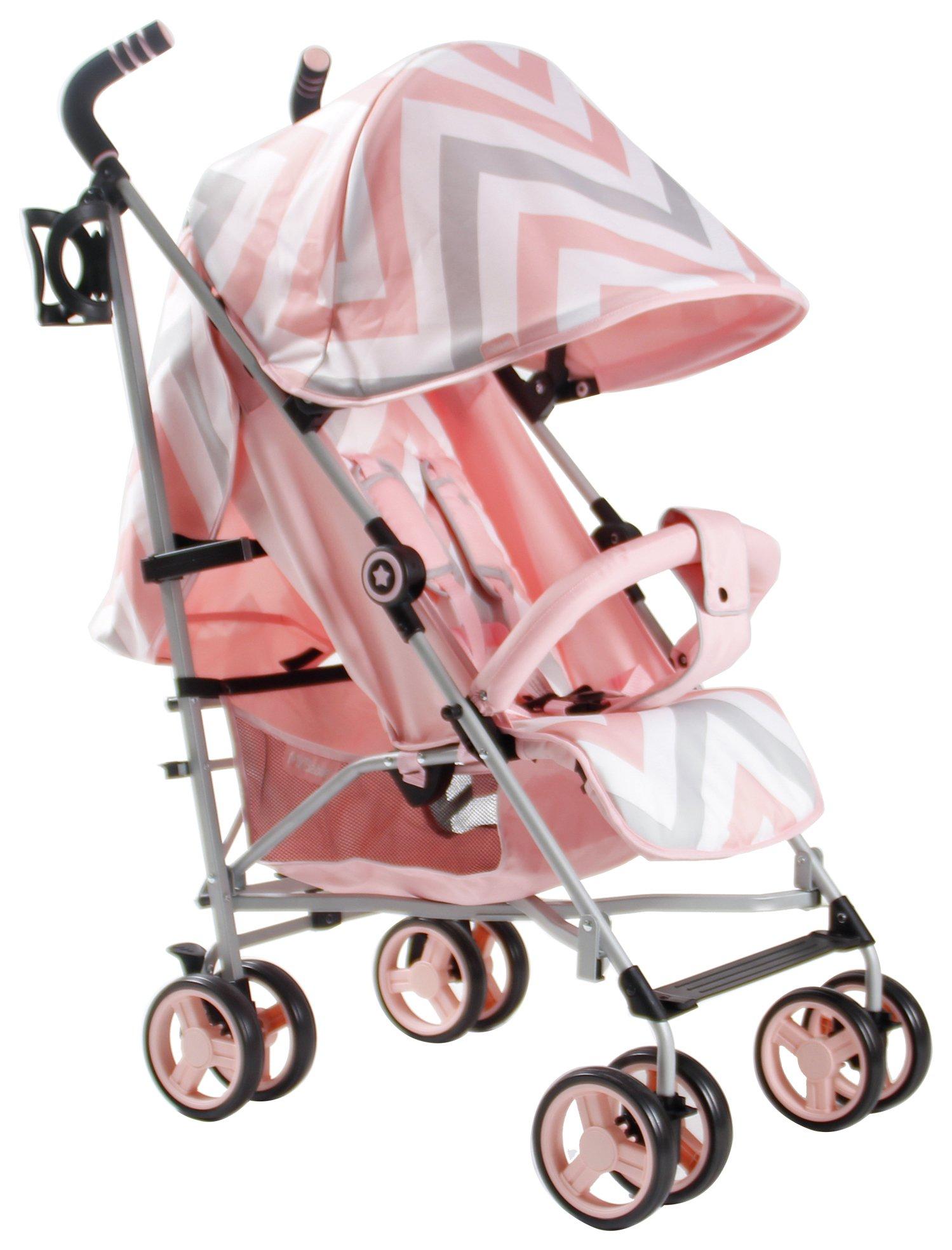 My Babiie MB02 Chevron Stroller - Pink