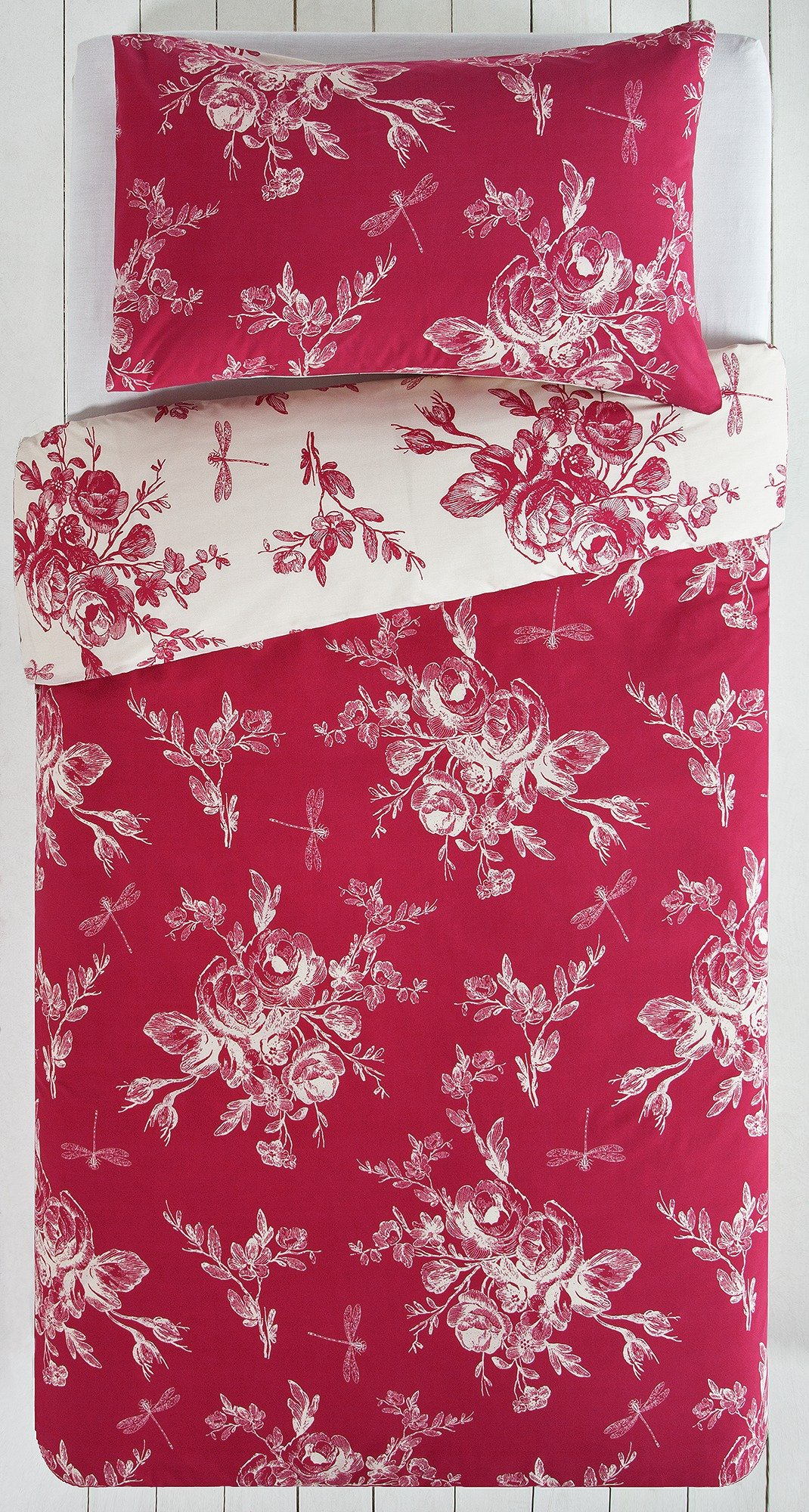 collection  lottie red and cream  bedding set  single