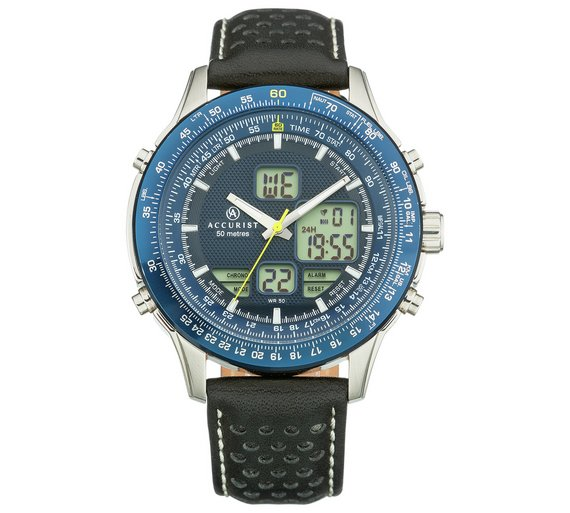 buy accurist men s blue dial analogue digital watch at argos co uk accurist men s blue dial analogue digital watch539 6908