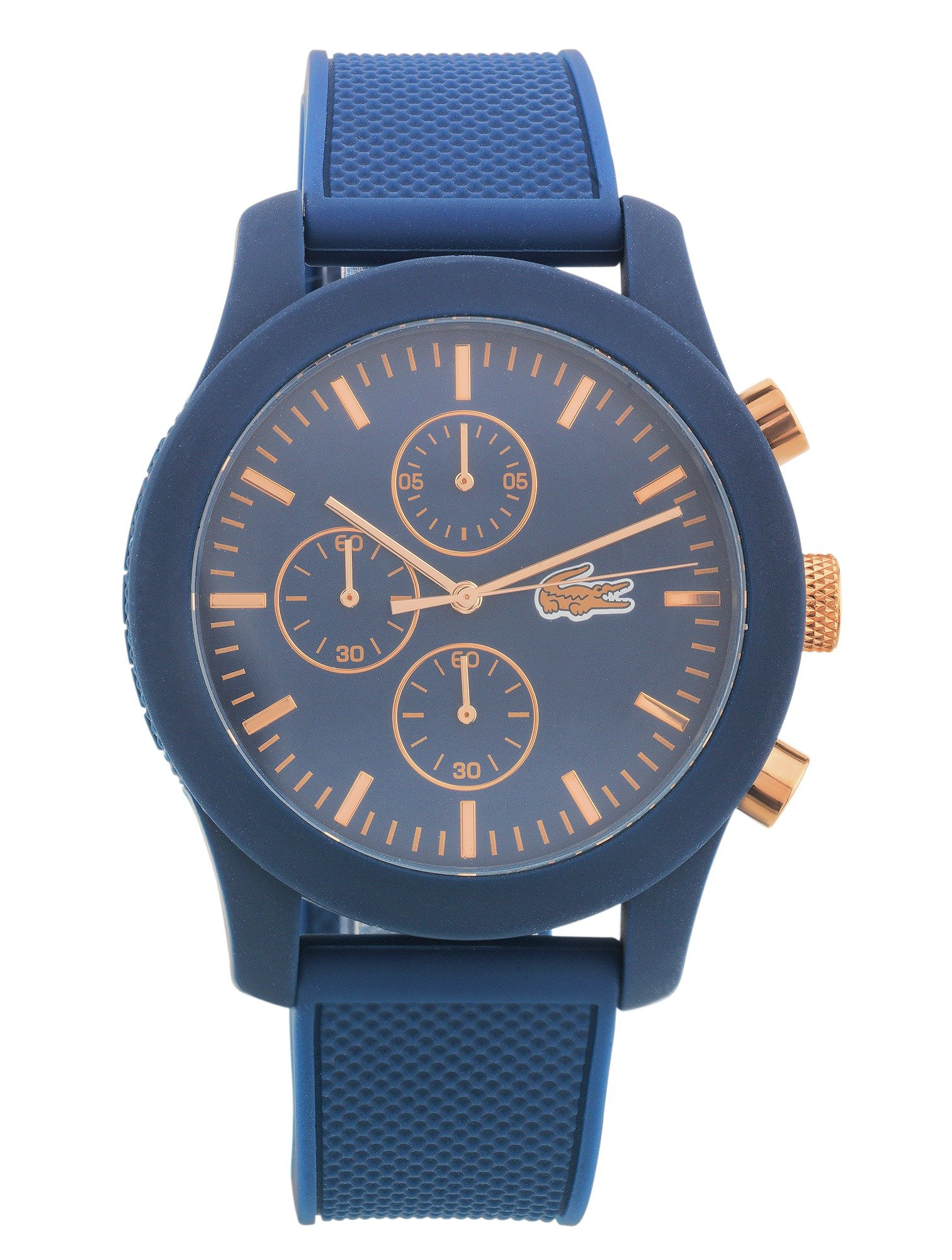 Lacoste 12.12 Men's Blue Silicone Strap Chronograph Watch