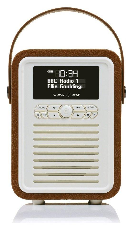VQ Retro Mini DAB Radio - Brown.