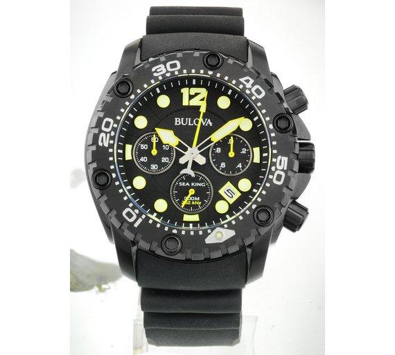 buy bulova men s stainless steel sea king watch at argos co uk bulova men s stainless steel sea king watch539 7543