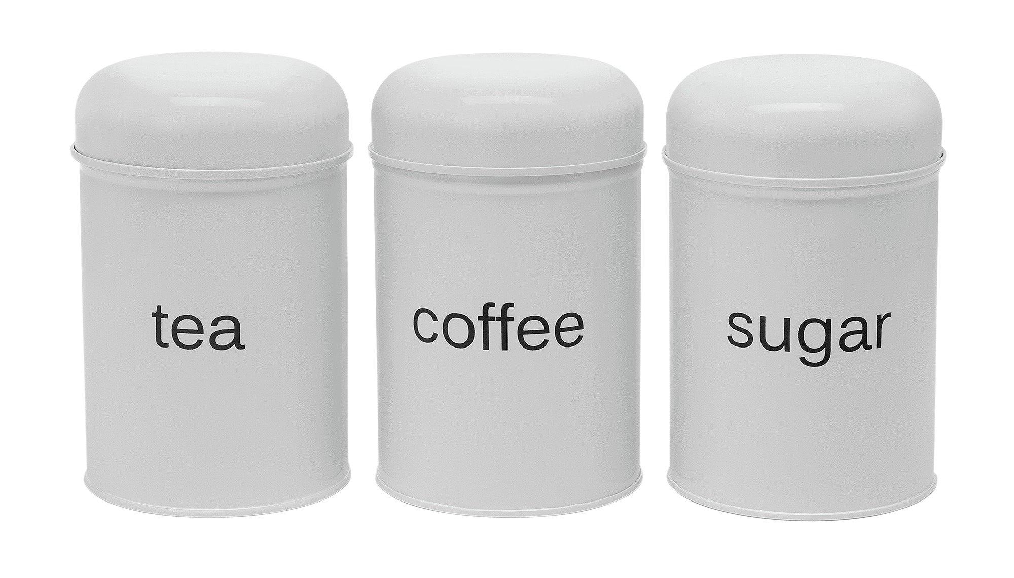Argos Home Set Of 3 Domed Storage Jars White