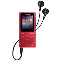 Sony - NW-E394 Walkman 8GB MP3 Player - Red