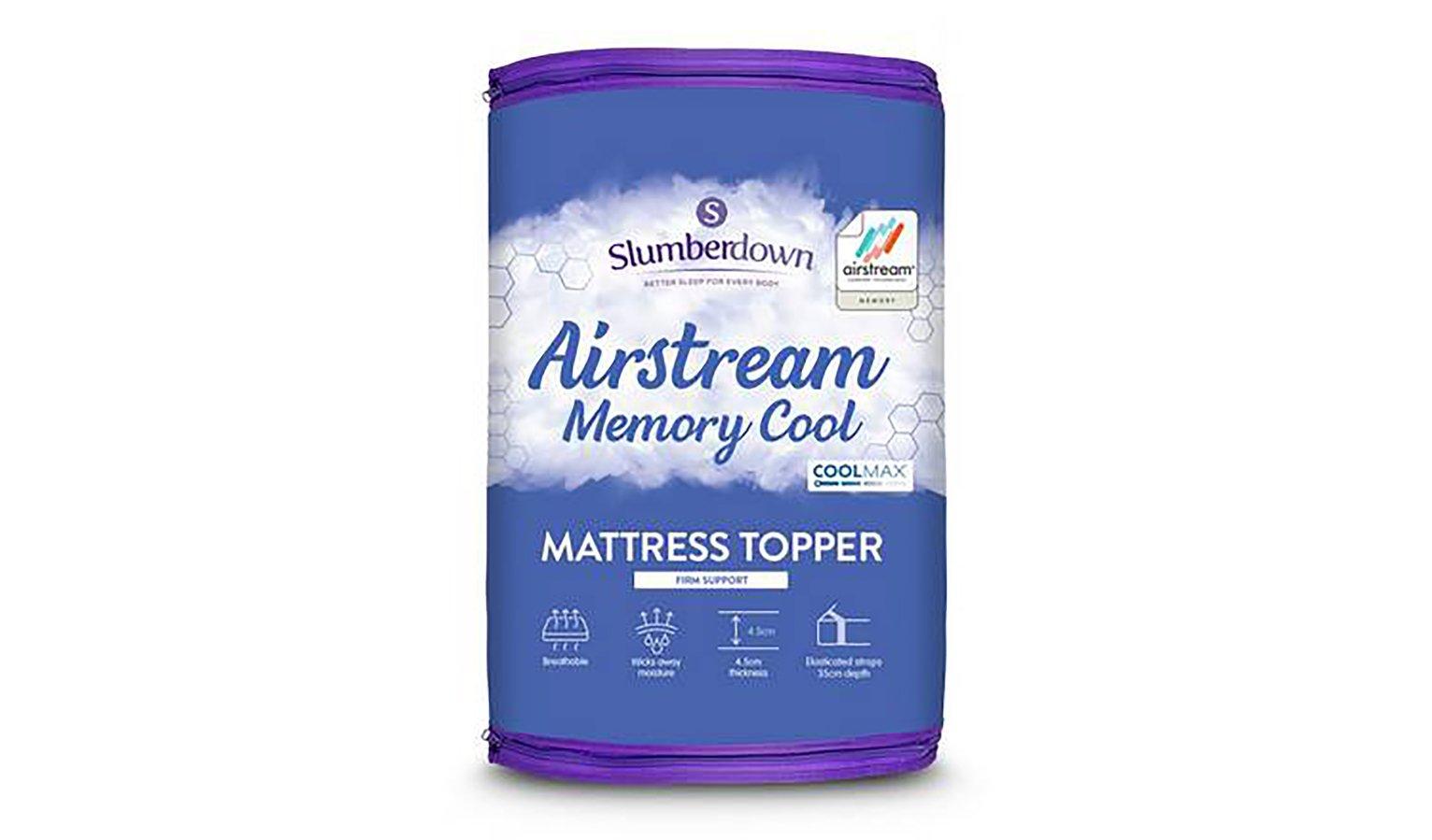 Slumberdown Airstream Memory Fibre Mattress Topper -Kingsize