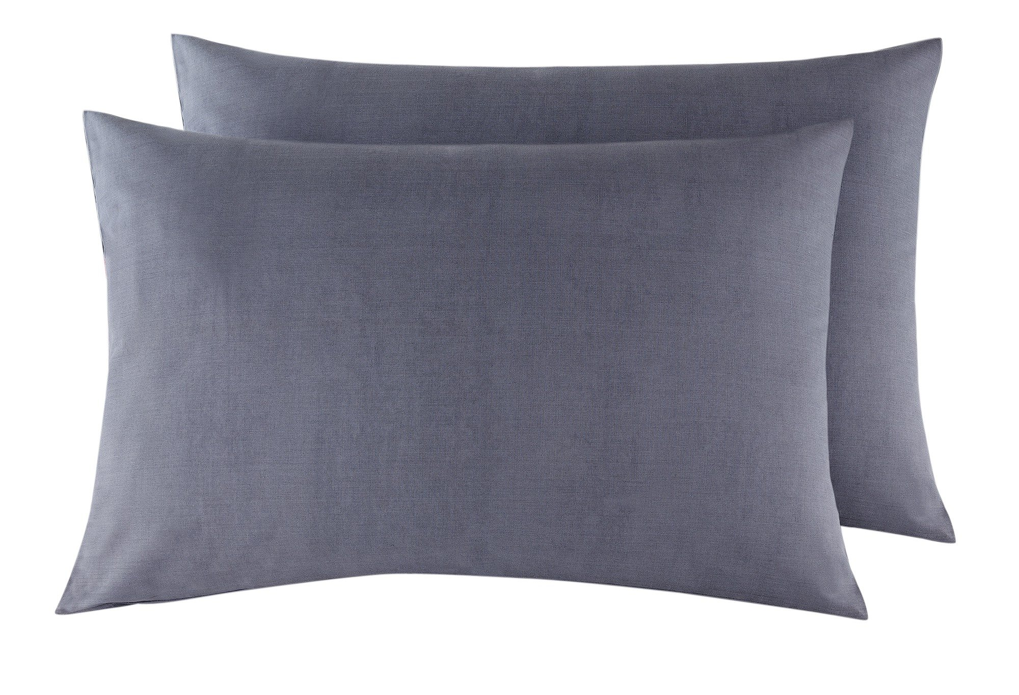 heart of house  pair of egyptian hwife pillowcasesdove grey