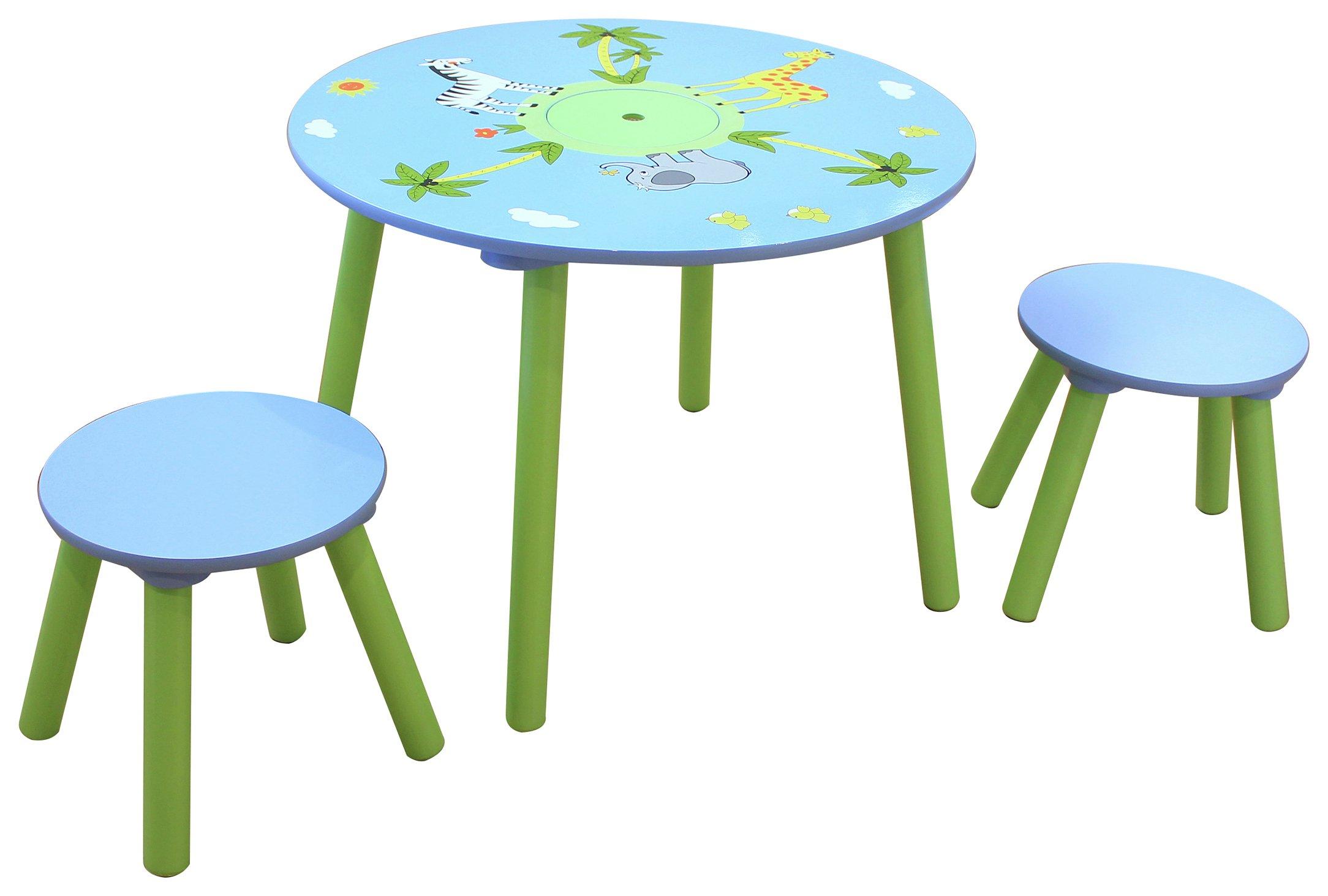 Liberty Houe Safari Nursery Table and 2 Stool Set.