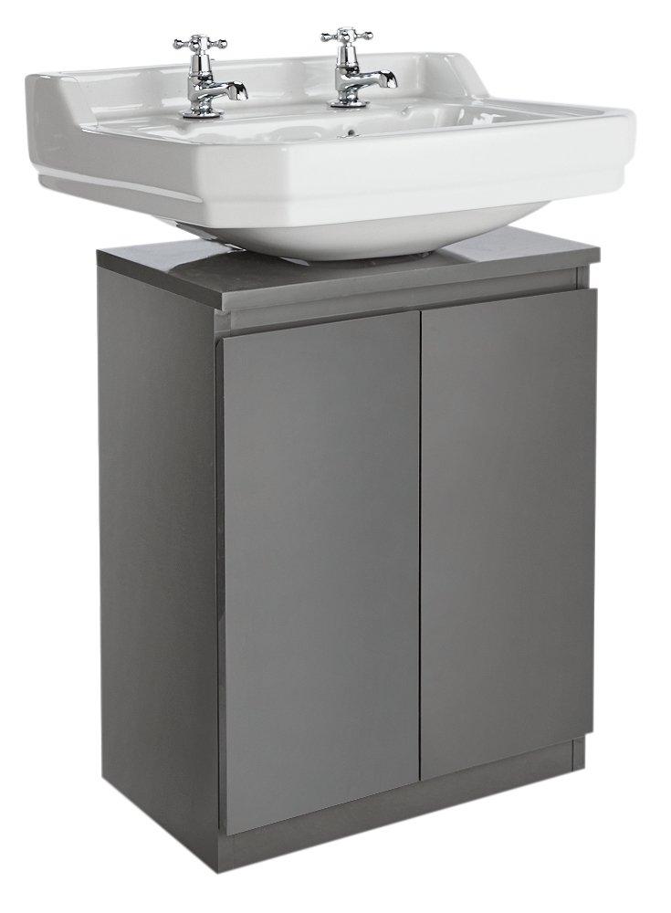 Terrific Argos Home Gloss Undersink Storage Grey Interior Design Ideas Apansoteloinfo