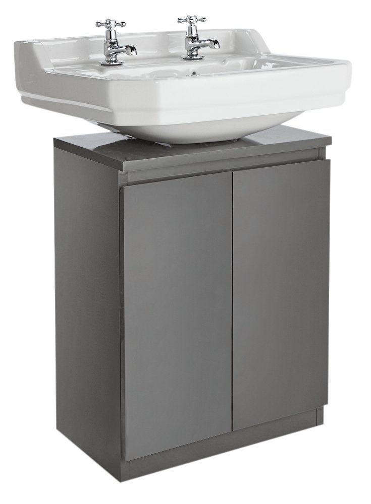 Buy Argos Home Gloss Undersink Storage Grey Bathroom Shelves
