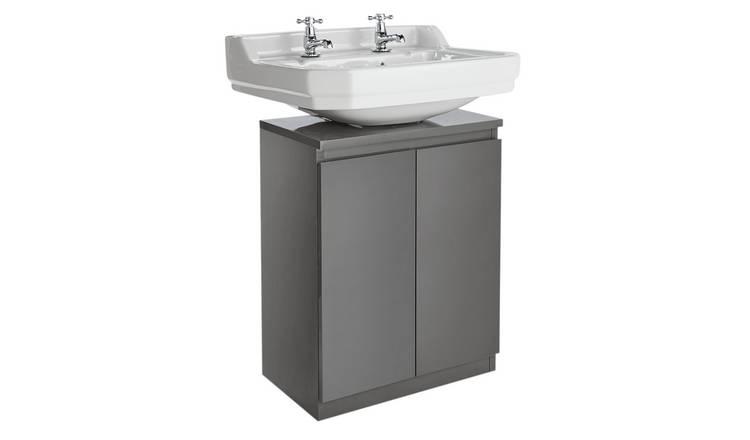 Tremendous Buy Argos Home Gloss Undersink Storage Grey Bathroom Shelves And Storage Units Argos Download Free Architecture Designs Xerocsunscenecom