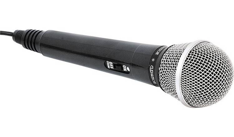 Easy Karaoke Wired Microphone - Black