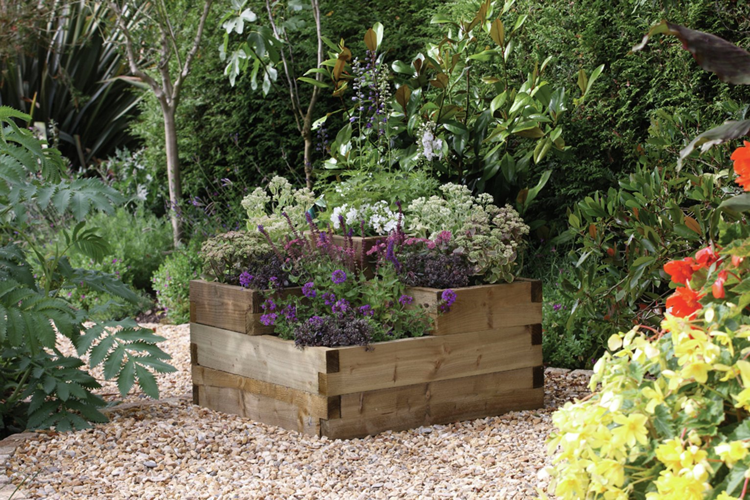 Forest Caledonian Tiered Raised Bed Planter. lowest price