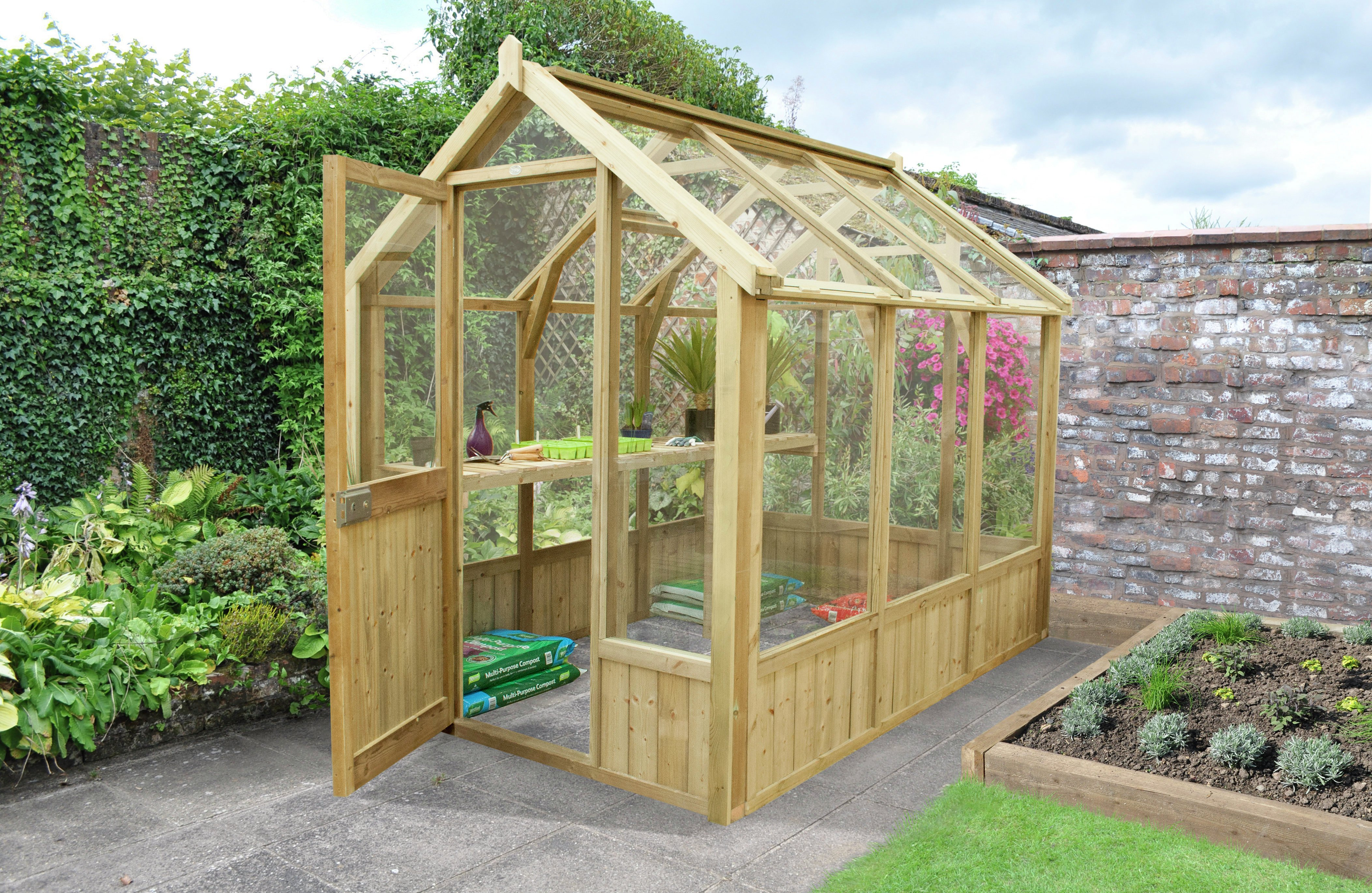 Forest Wooden Vale Greenhouse 8 x 6 ft Includes Installation lowest price