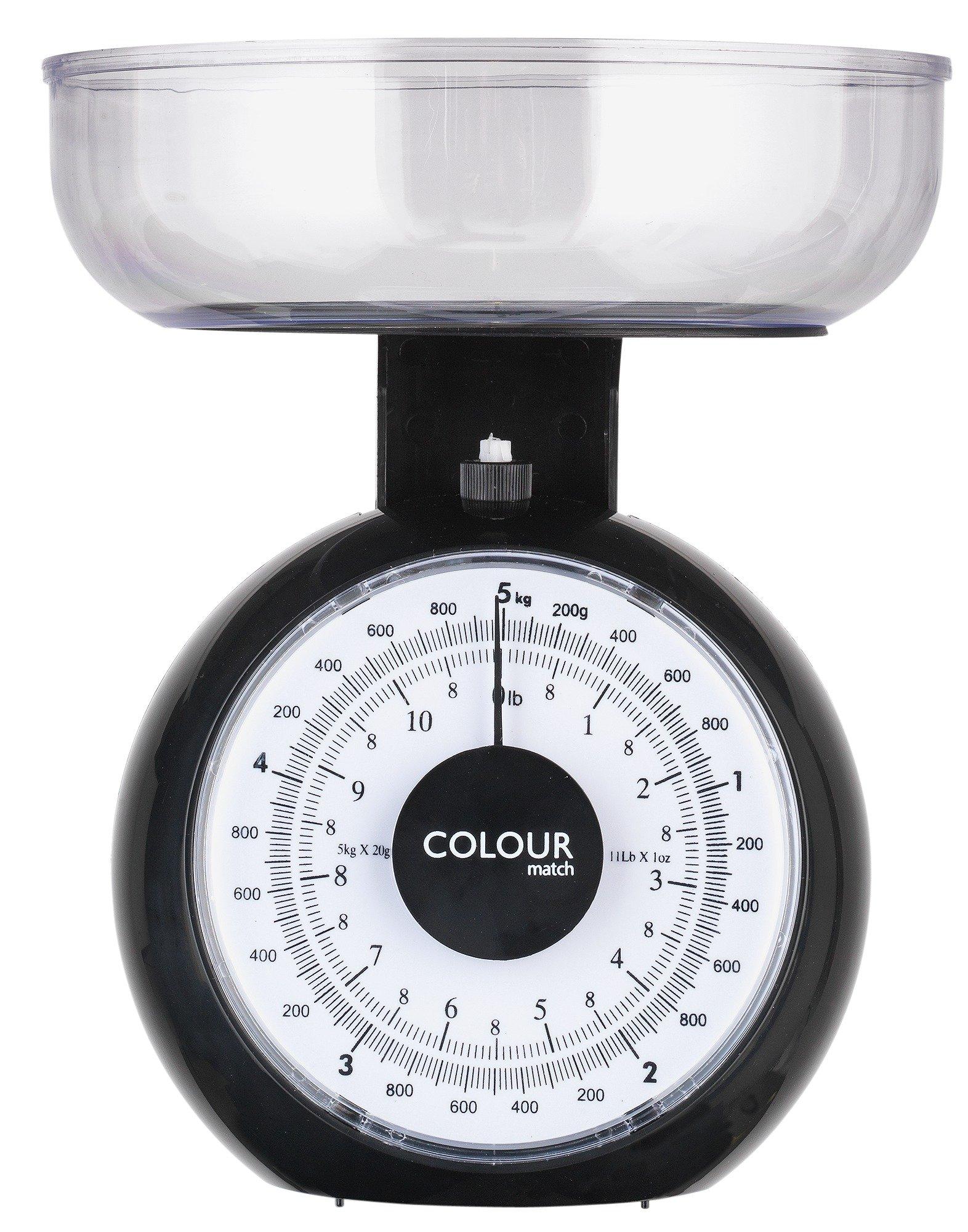 Image of ColourMatch - Mechanical Kitchen Scales - Jet Black