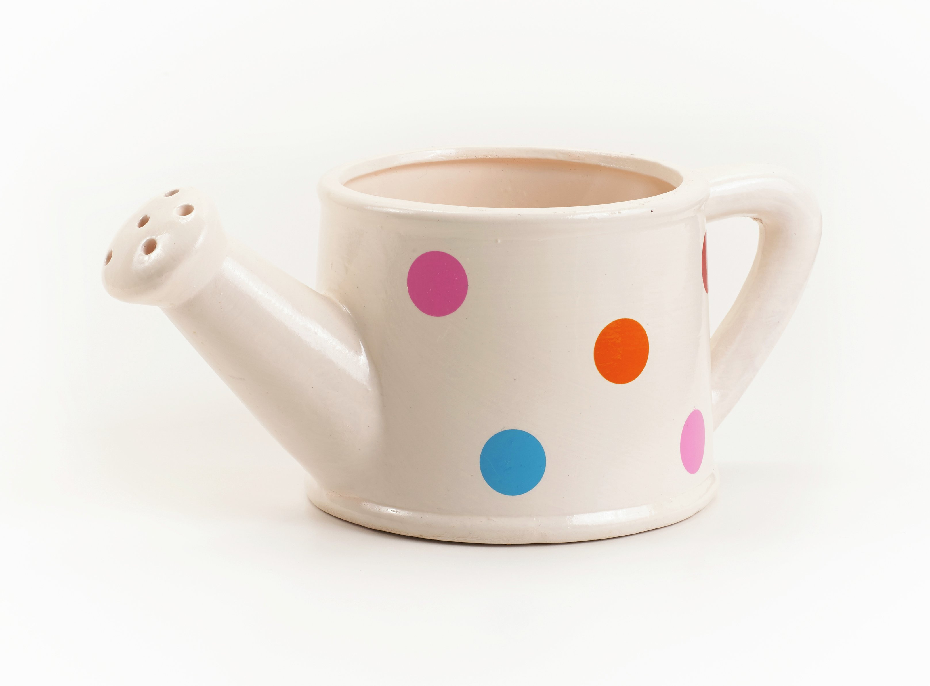 Ceramic - Spotty Watering Can - Garden Planter lowest price