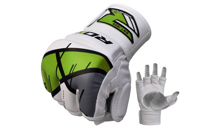 RDX Leather X Grappling Gloves Green - Large/Extra Large