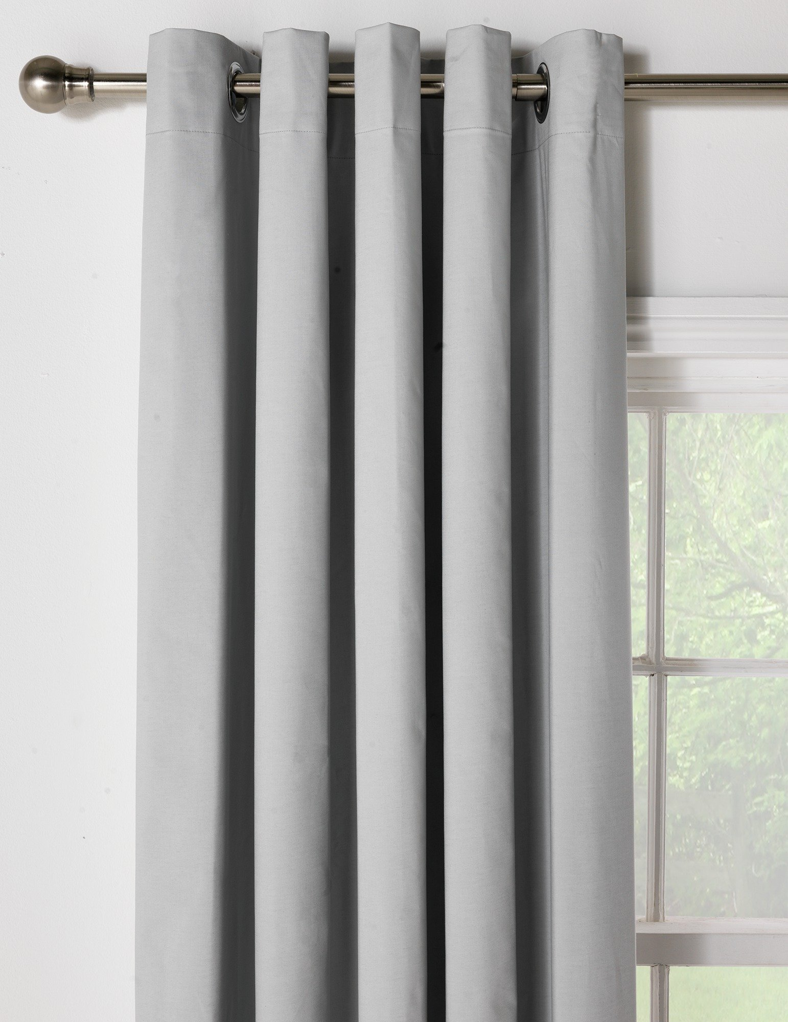 Image of HOME Blackout Thermal Curtains - 229x229cm - Dove Grey
