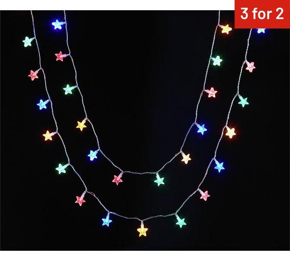 Argos 80 Multi Star String Lights