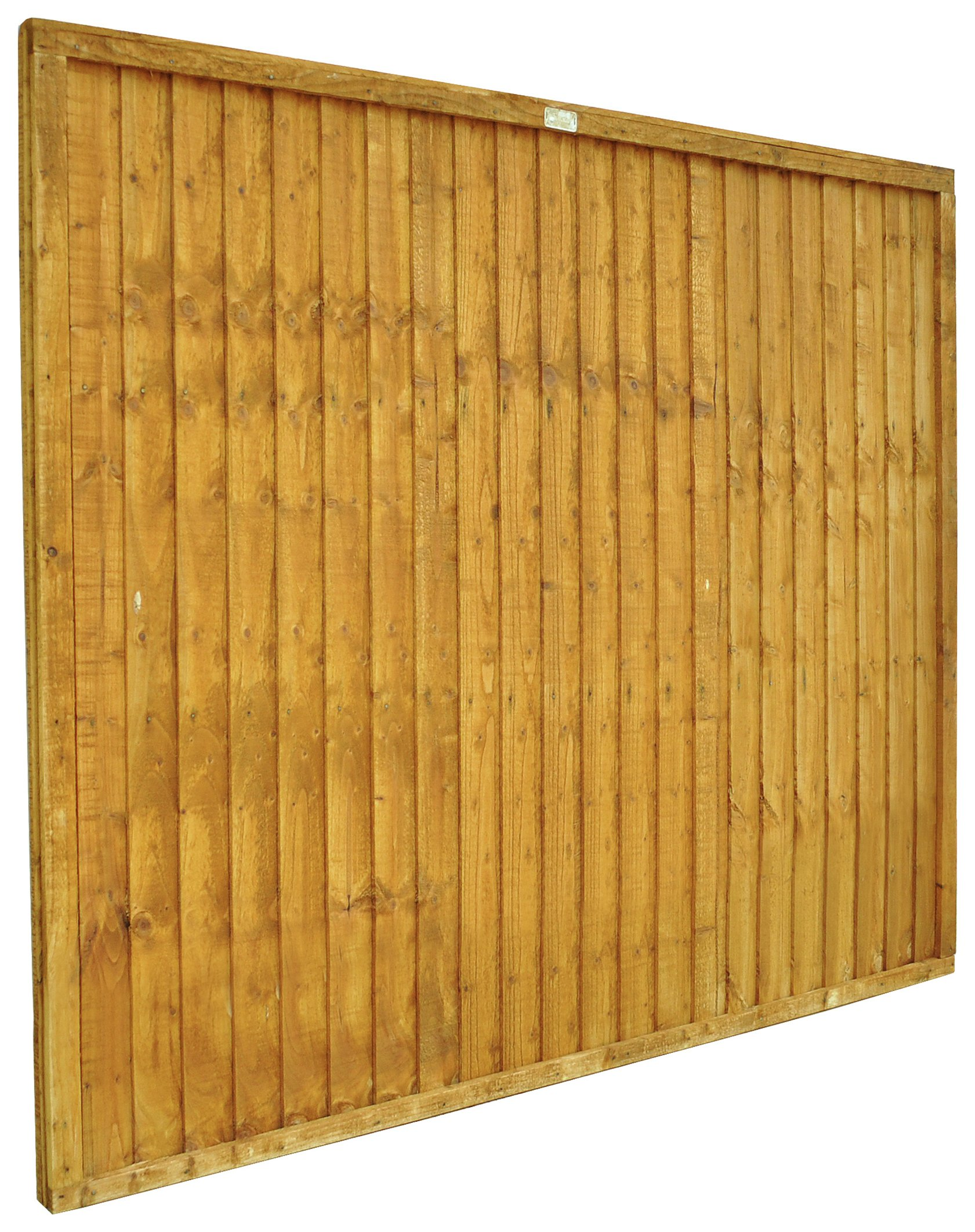 Forest 1.5m Larchlap Closeboard Fence Panel - Pack of 10. lowest price