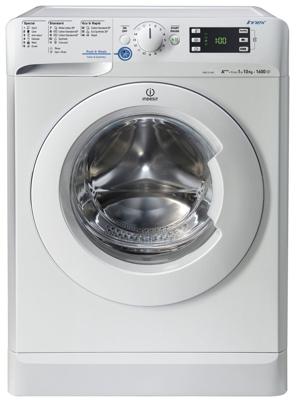 indesit xwe101683w 10kg 1600 spin washing machine white. Black Bedroom Furniture Sets. Home Design Ideas