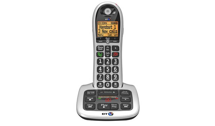 BT Big Button 4600 Telephone with Answer Machine - Single