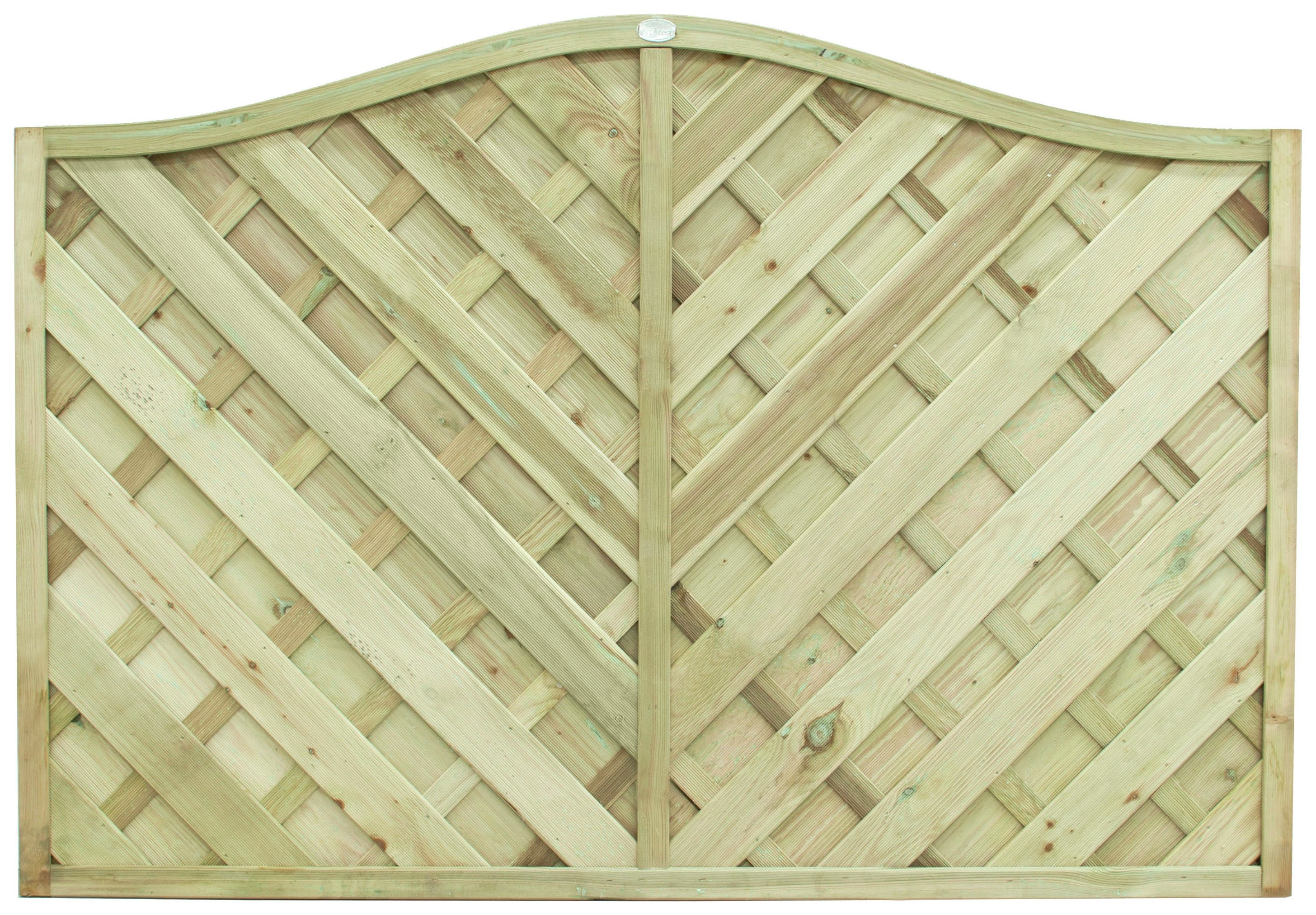 Forest 1.2m Strasburg Fence Panel - Pack of 3. lowest price