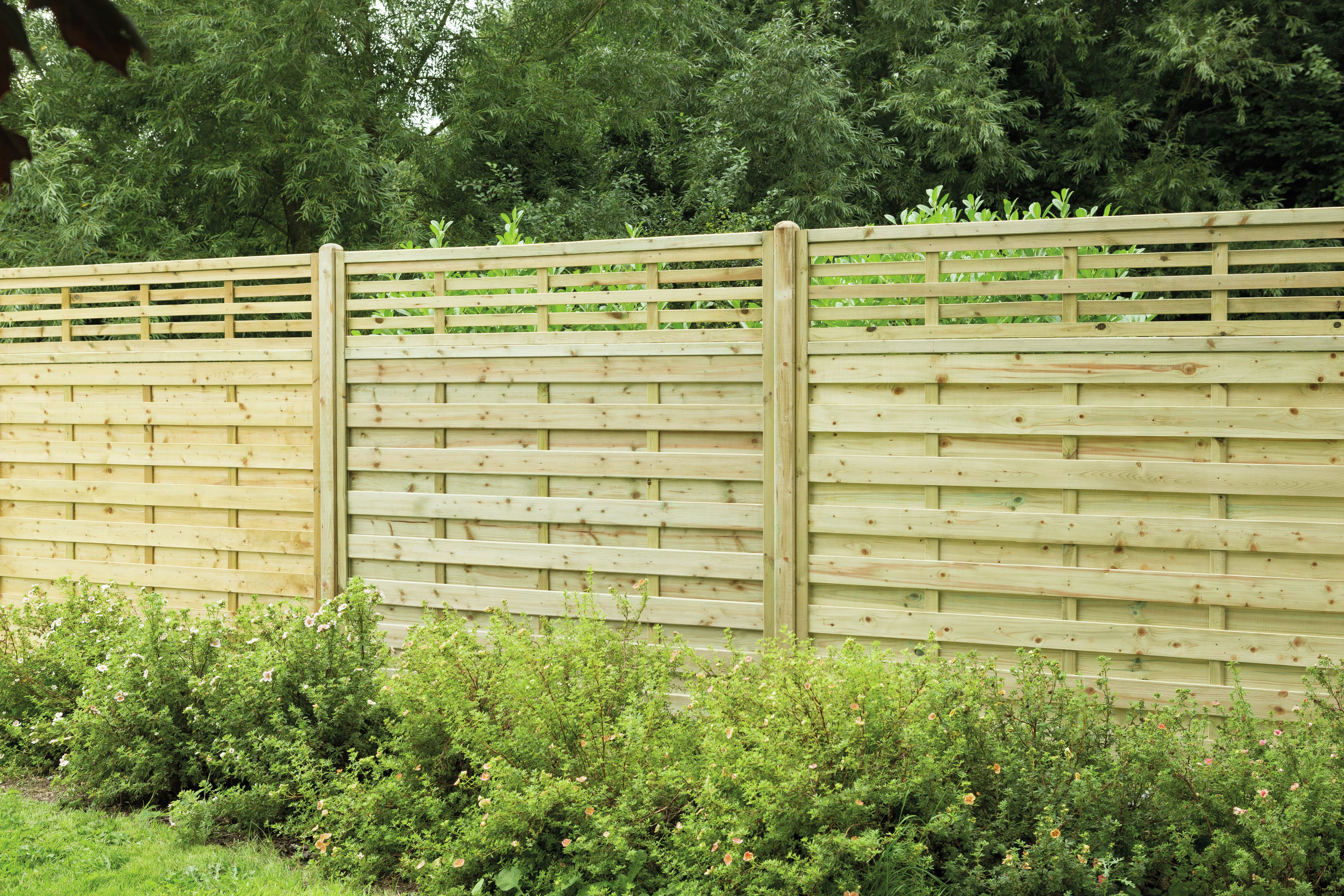 Forest 1.8m Kyoto Fence Panel - Pack of 4. lowest price