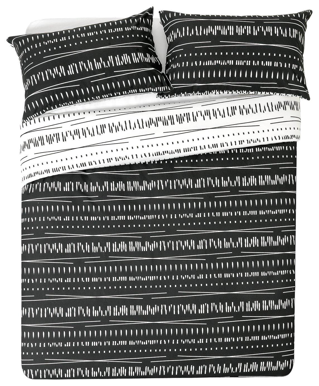 HOME - Sticks Black and White - Bedding Set - Kingsize
