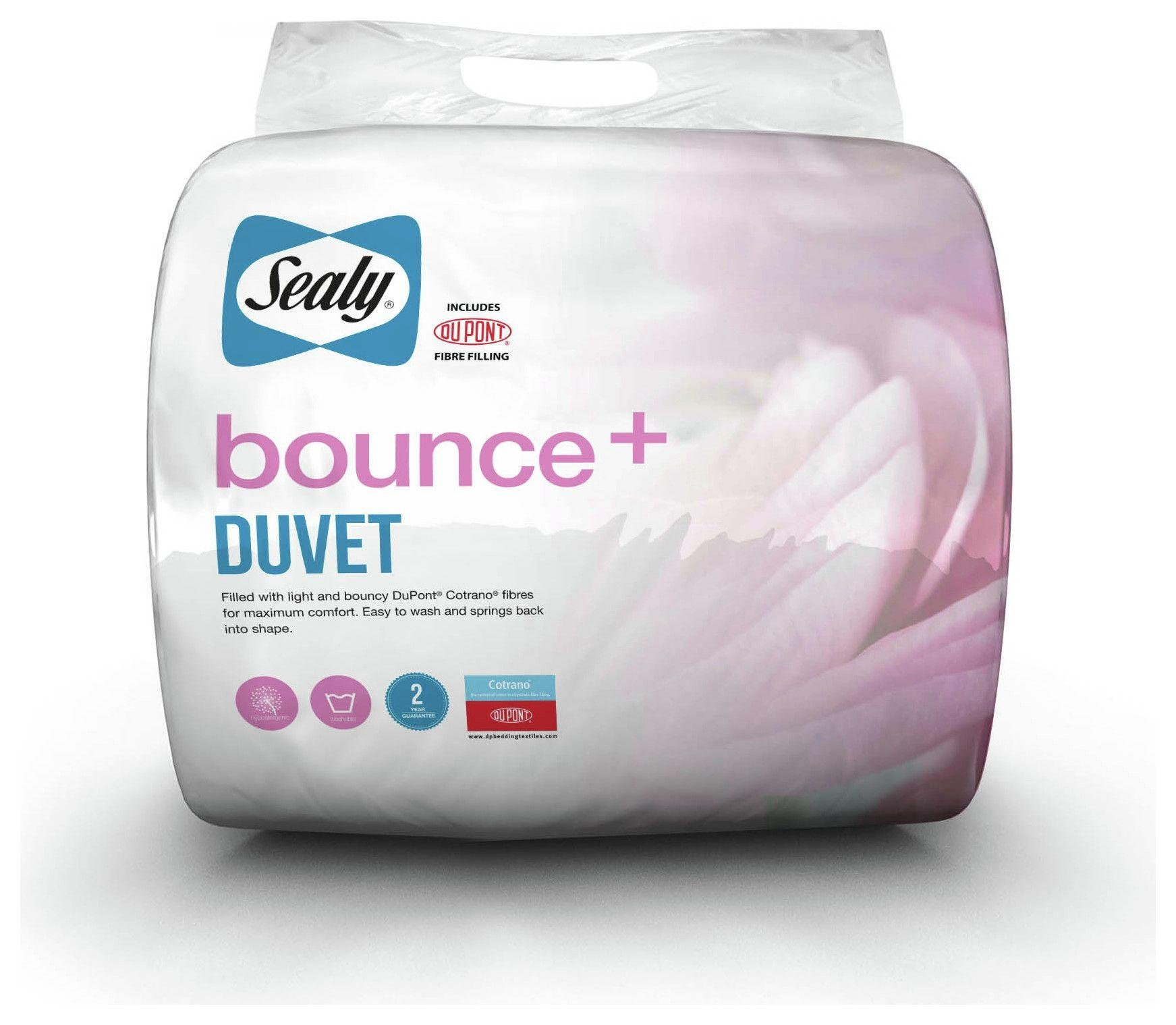 sealy bounce antiallergy 10.5 tog duvet  superking