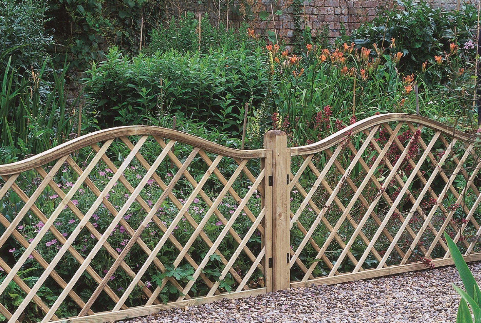 Image of Forest 0.9m Hamburg Screen Fence Panel - Pack of 3.