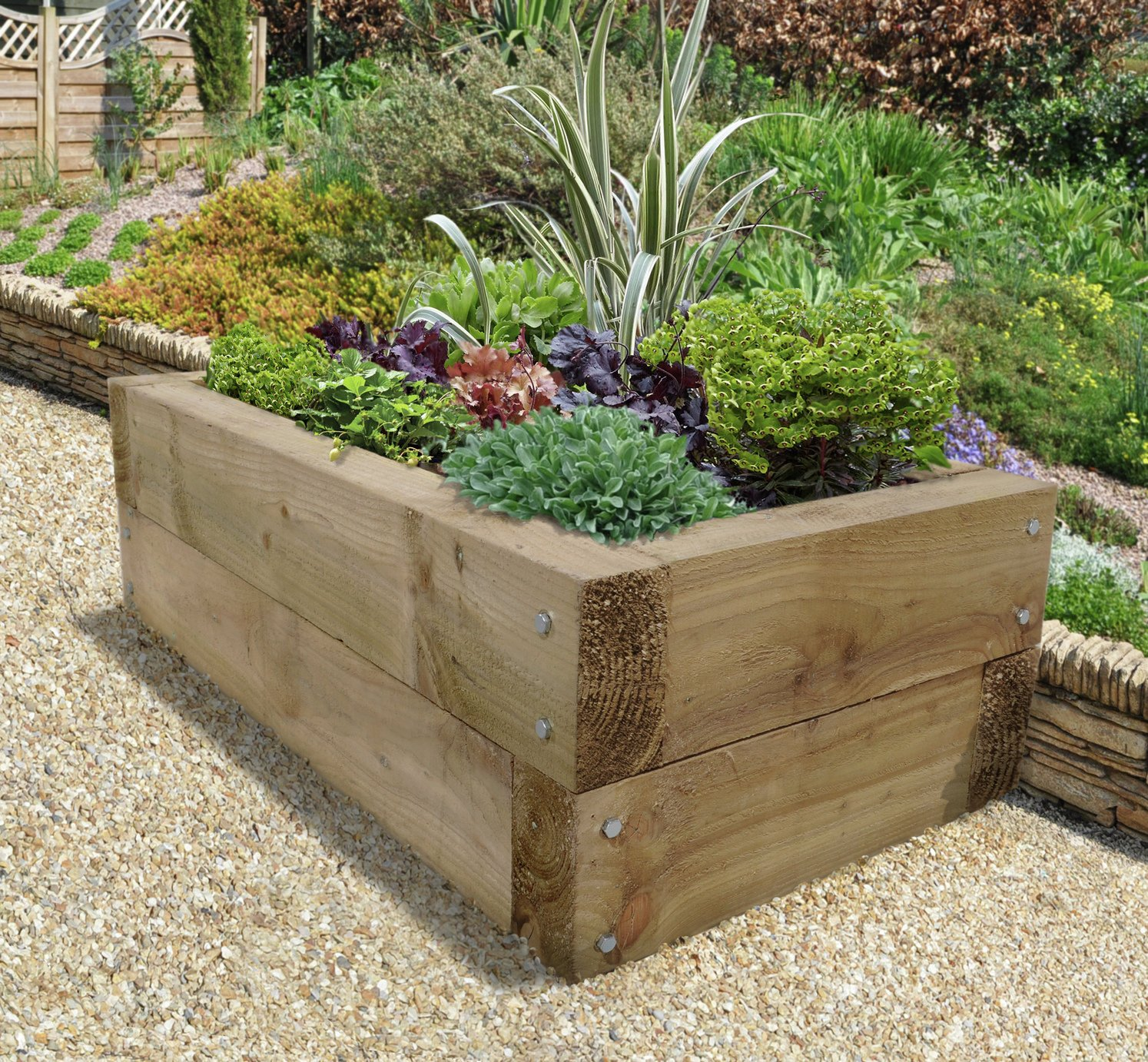 Forest Sleeper Raised Bed Planter. lowest price