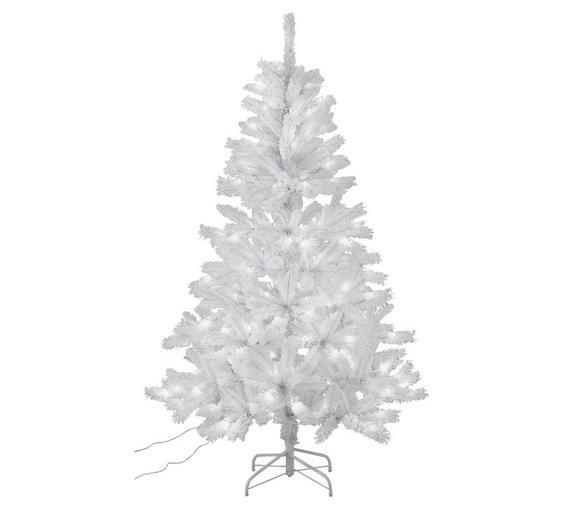 argos home 6ft pre lit christmas tree white - 6ft White Christmas Tree