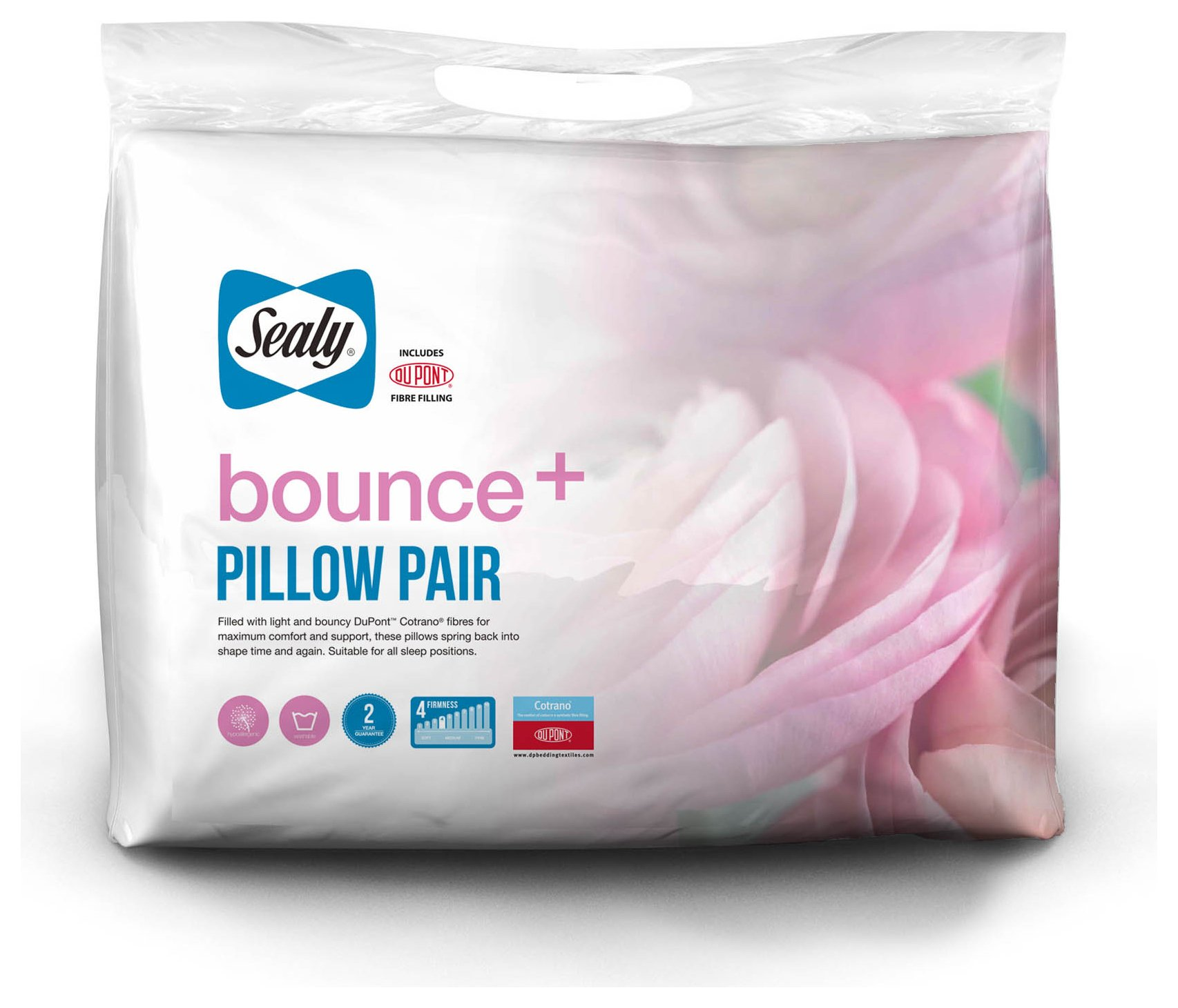 sealy  bounce plus pair of pillows