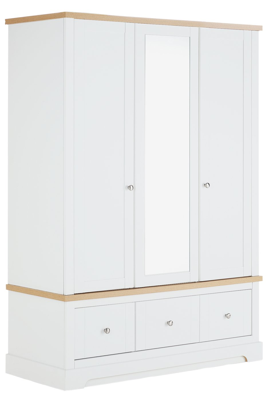 Argos Home Westbury 3 Door 3 Drawer Wardrobe - White