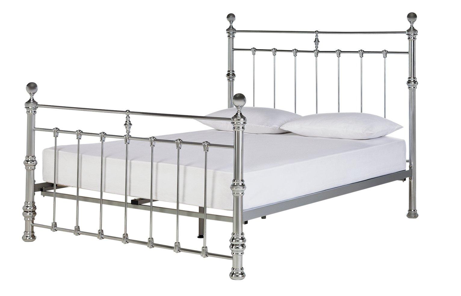 buy online b413a df870 Argos Home Conan Super Kingsize Bed Frame - Chrome (5417234 ...