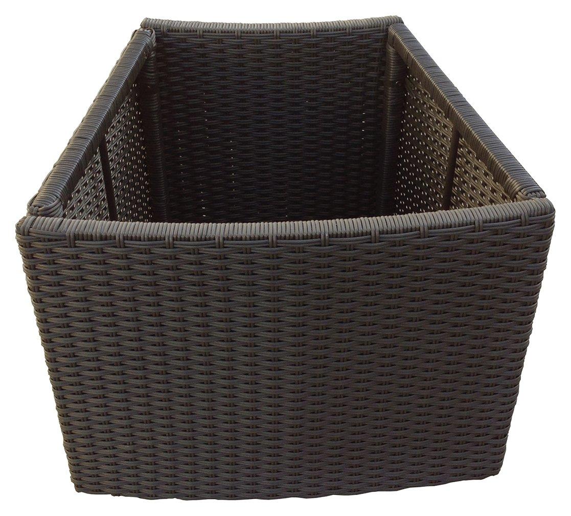rattan deep planter. Black Bedroom Furniture Sets. Home Design Ideas