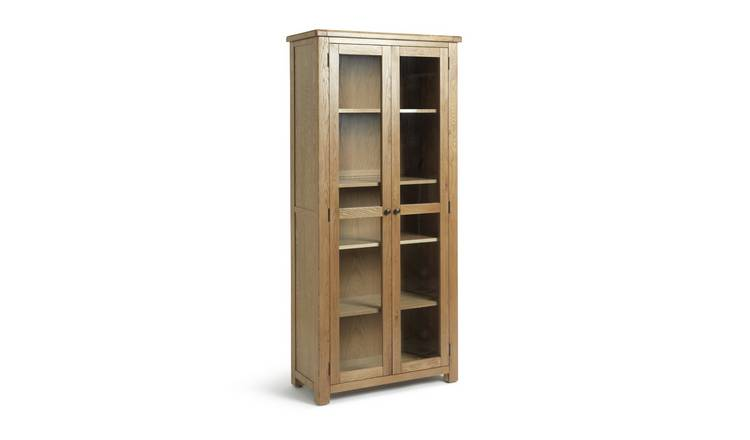 Argos Home Kent 2 Door Oak & Oak Veneer Display Cabinet
