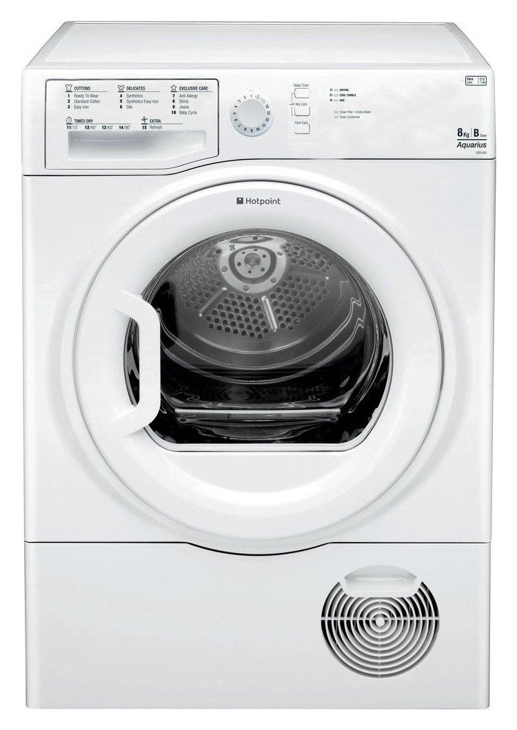 Hotpoint TCFS 835 GP Condenser Tumble Dryer - White.